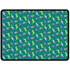 Dinosaurs Pattern Double Sided Fleece Blanket (large)  by ValentinaDesign