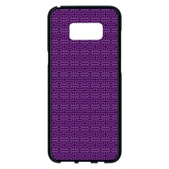 Pattern Samsung Galaxy S8 Plus Black Seamless Case by ValentinaDesign