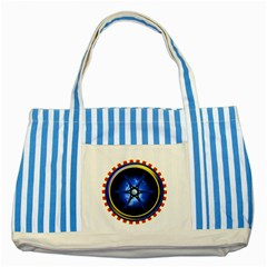 Power Core Striped Blue Tote Bag