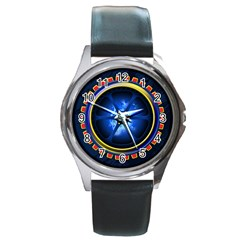 Power Core Round Metal Watch