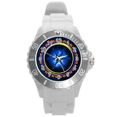 Power Core Round Plastic Sport Watch (l) by linceazul