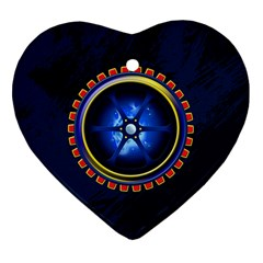 Power Core Heart Ornament (two Sides)