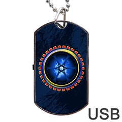 Power Core Dog Tag Usb Flash (one Side)