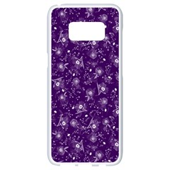 Floral Pattern Samsung Galaxy S8 White Seamless Case by ValentinaDesign