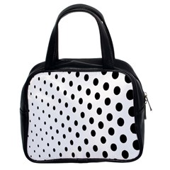 Polka Dot Black Circle Classic Handbags (2 Sides) by Mariart