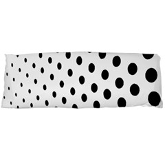 Polka Dot Black Circle Body Pillow Case Dakimakura (two Sides) by Mariart