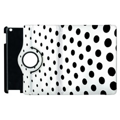 Polka Dot Black Circle Apple Ipad 3/4 Flip 360 Case by Mariart