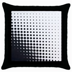 Comic Dots Polka Black White Throw Pillow Case (black) by Mariart