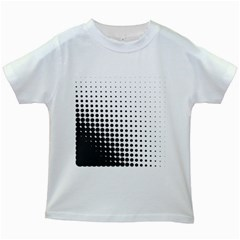 Comic Dots Polka Black White Kids White T Shirts