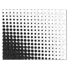 Comic Dots Polka Black White Rectangular Jigsaw Puzzl by Mariart
