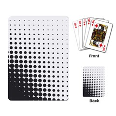 Comic Dots Polka Black White Playing Card by Mariart
