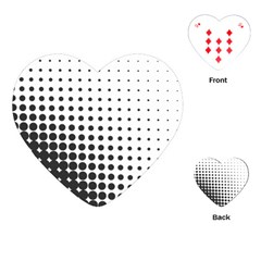Comic Dots Polka Black White Playing Cards (heart)  by Mariart