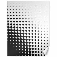 Comic Dots Polka Black White Canvas 18  X 24   by Mariart