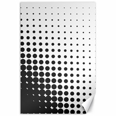 Comic Dots Polka Black White Canvas 24  X 36