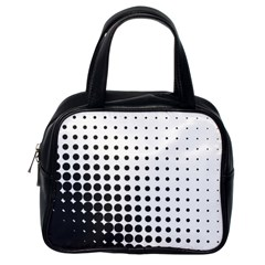 Comic Dots Polka Black White Classic Handbags (one Side) by Mariart