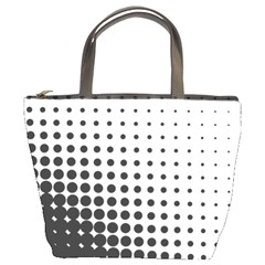 Comic Dots Polka Black White Bucket Bags by Mariart