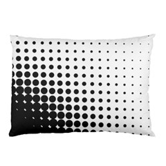 Comic Dots Polka Black White Pillow Case by Mariart