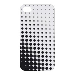 Comic Dots Polka Black White Apple Iphone 4/4s Hardshell Case by Mariart