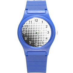 Comic Dots Polka Black White Round Plastic Sport Watch (s) by Mariart