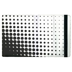 Comic Dots Polka Black White Apple Ipad 2 Flip Case by Mariart