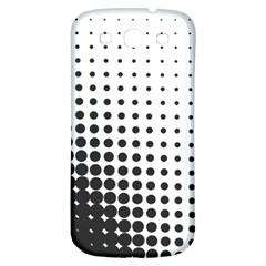 Comic Dots Polka Black White Samsung Galaxy S3 S Iii Classic Hardshell Back Case by Mariart