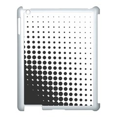 Comic Dots Polka Black White Apple Ipad 3/4 Case (white) by Mariart