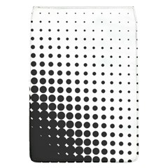 Comic Dots Polka Black White Flap Covers (l)  by Mariart