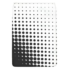 Comic Dots Polka Black White Flap Covers (s)  by Mariart