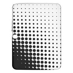 Comic Dots Polka Black White Samsung Galaxy Tab 3 (10 1 ) P5200 Hardshell Case
