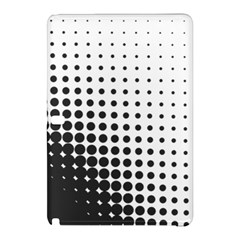 Comic Dots Polka Black White Samsung Galaxy Tab Pro 12 2 Hardshell Case by Mariart