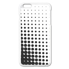 Comic Dots Polka Black White Apple Iphone 6 Plus/6s Plus Enamel White Case by Mariart