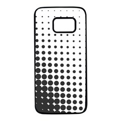 Comic Dots Polka Black White Samsung Galaxy S7 Black Seamless Case by Mariart