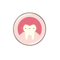 Sad Tooth Pink Hat Clip Ball Marker by Mariart