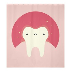 Sad Tooth Pink Shower Curtain 66  X 72  (large)  by Mariart