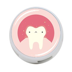 Sad Tooth Pink 4 Port Usb Hub (two Sides)  by Mariart
