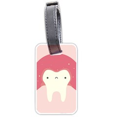 Sad Tooth Pink Luggage Tags (one Side)  by Mariart