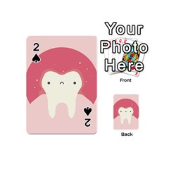 Sad Tooth Pink Playing Cards 54 (mini)  by Mariart