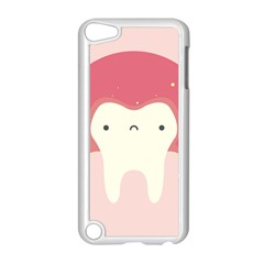 Sad Tooth Pink Apple Ipod Touch 5 Case (white) by Mariart