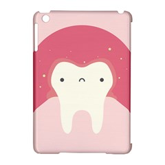 Sad Tooth Pink Apple Ipad Mini Hardshell Case (compatible With Smart Cover) by Mariart