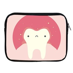 Sad Tooth Pink Apple Ipad 2/3/4 Zipper Cases by Mariart
