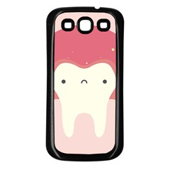 Sad Tooth Pink Samsung Galaxy S3 Back Case (black) by Mariart
