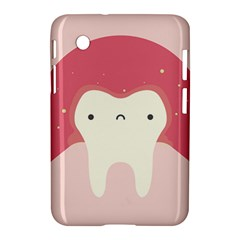 Sad Tooth Pink Samsung Galaxy Tab 2 (7 ) P3100 Hardshell Case  by Mariart