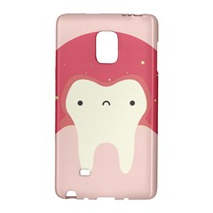 Sad Tooth Pink Galaxy Note Edge by Mariart