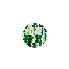 Generative Art Experiment Rectangular Circular Shapes Polka Green Vertical 1  Mini Magnets by Mariart