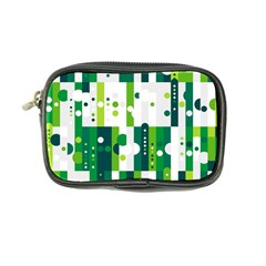 Generative Art Experiment Rectangular Circular Shapes Polka Green Vertical Coin Purse by Mariart