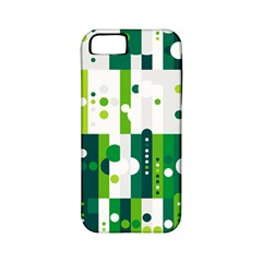 Generative Art Experiment Rectangular Circular Shapes Polka Green Vertical Apple Iphone 5 Classic Hardshell Case (pc+silicone) by Mariart