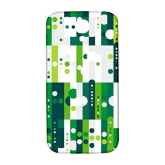 Generative Art Experiment Rectangular Circular Shapes Polka Green Vertical Samsung Galaxy S4 I9500/i9505  Hardshell Back Case by Mariart