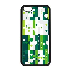 Generative Art Experiment Rectangular Circular Shapes Polka Green Vertical Apple Iphone 5c Seamless Case (black) by Mariart