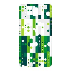 Generative Art Experiment Rectangular Circular Shapes Polka Green Vertical Samsung Galaxy Note 3 N9005 Hardshell Back Case by Mariart