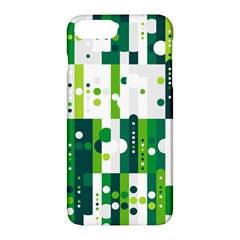 Generative Art Experiment Rectangular Circular Shapes Polka Green Vertical Apple Iphone 7 Plus Hardshell Case by Mariart
